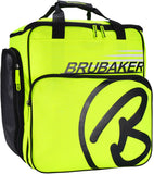 BRUBAKER Ski Boot Bag Super Champion Helmet Bag Backpack With Shoe Compartment - Neon Yellow / Black