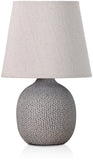 BRUBAKER Table or Bedside Lamps - Beige/Light Gray - Ceramic Base in Two Tone Matt Finish - 11.2 Inches - Pack of 1 or 2