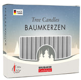 BRUBAKER Christmas Tree Candles for Pyramids Angel Chimes - Silver - Pack of 20 in a Gift Box