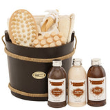 "BRUBAKER Bath Gift Set ""Wooden Pail"", Spa Set, 9pcs"