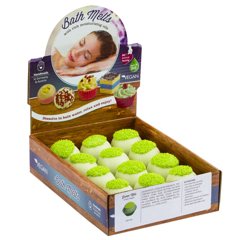 "BRUBAKER ""Green Mile (Green Apple)"" Bath Melts 12pcs /Box  - Vegan - Organic - Handmade"