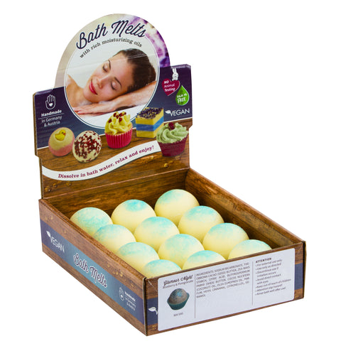 "BRUBAKER ""Glamour Night (Blueberry & Pomegranate) "" Bath Melts 12pcs /Box  - Vegan - Organic - Handmade"