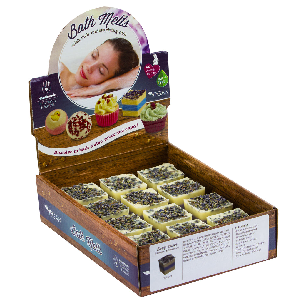 "BRUBAKER ""Early Dawn (Lavender & Rosemary)"" Bath Melts 12pcs /Box  - Vegan - Organic - Handmade"