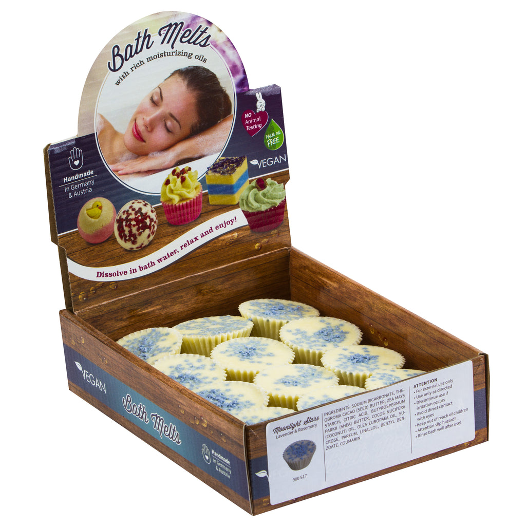 "BRUBAKER ""Moonlight Stars (Lavender & Rosemary)"" Bath Melts 12pcs /Box  - Vegan - Organic - Handmade"