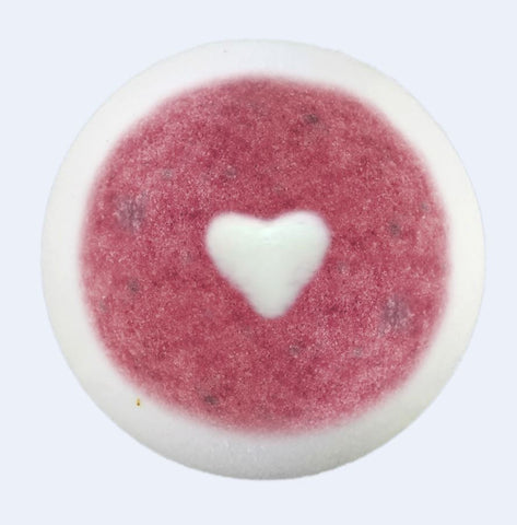 "BRUBAKER Huge Handmade Fizzing Bath Bomb ""Love"" - Bath Fizzer - All Natural, Vegan, Organic Ingredients - Bulk"