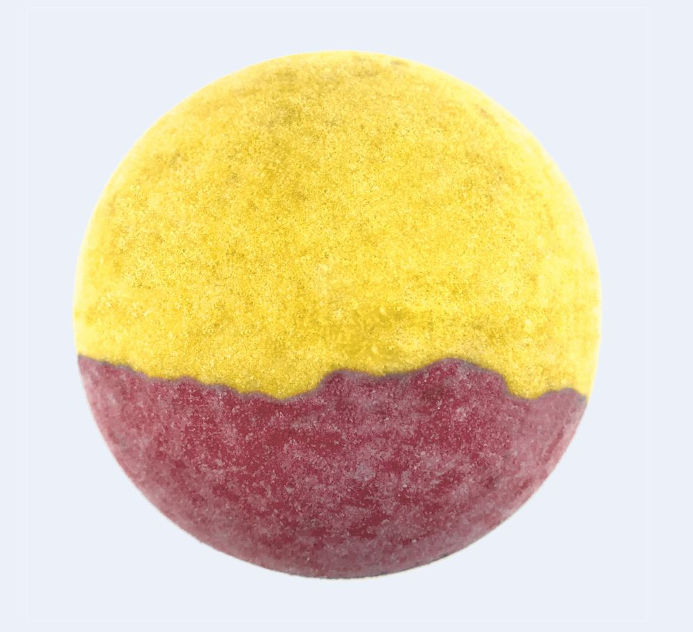 "BRUBAKER Huge Handmade Fizzing Bath Bomb ""Mango"" - Bath Fizzer - All Natural, Vegan, Organic Ingredients - Bulk"