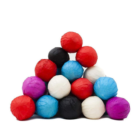 Packs of 60 Assorted Bath Bombs Small With Color Paper and Wrapped