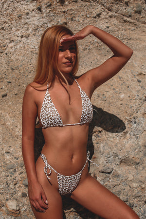 Tan Leopard Triangle Set