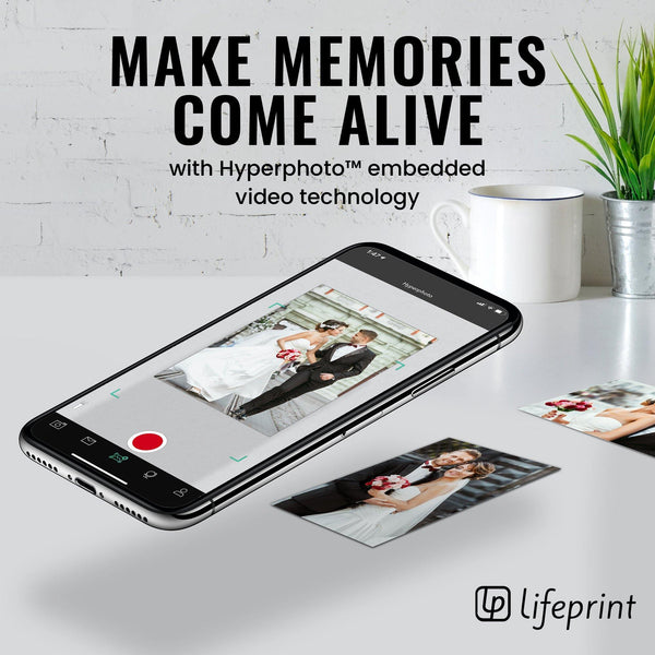 Lifeprint 2x3 Hyperphoto Printer for iPhone & Android - White