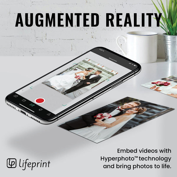 Lifeprint 3x4.5 Hyperphoto Printer for iPhone & Android - BLACK - Lifeprint Photos
