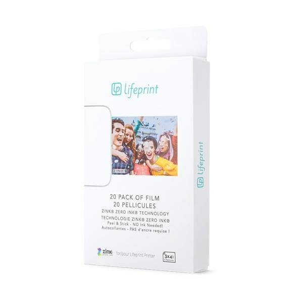 Lifeprint Photo Paper 3x4.5 - Sticky Back 20 Pack - Lifeprint Photos