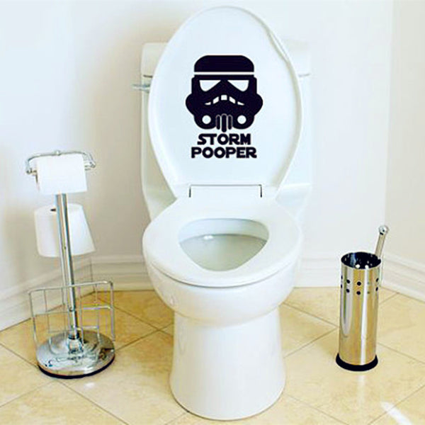 "Star Wars ""Storm Pooper"" Toilet Seat Decal Sticker"