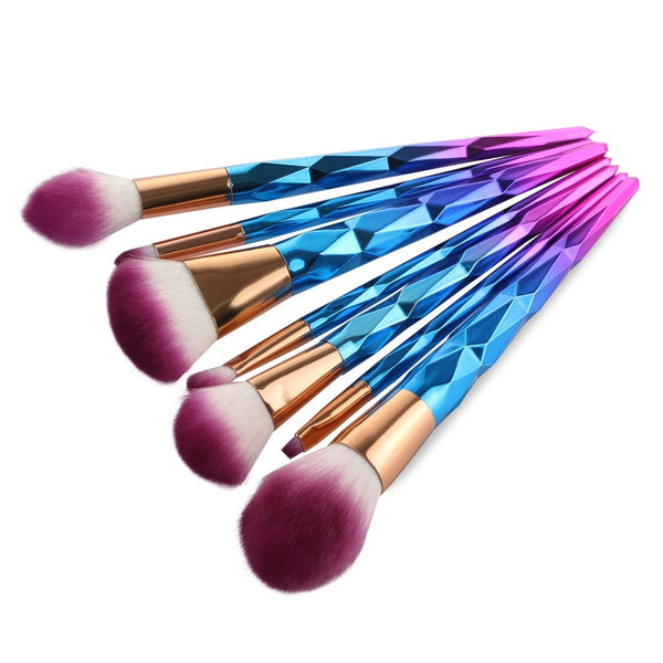 Unicorn Brush Makeup Rhinestone Brushes Set (7pcs)