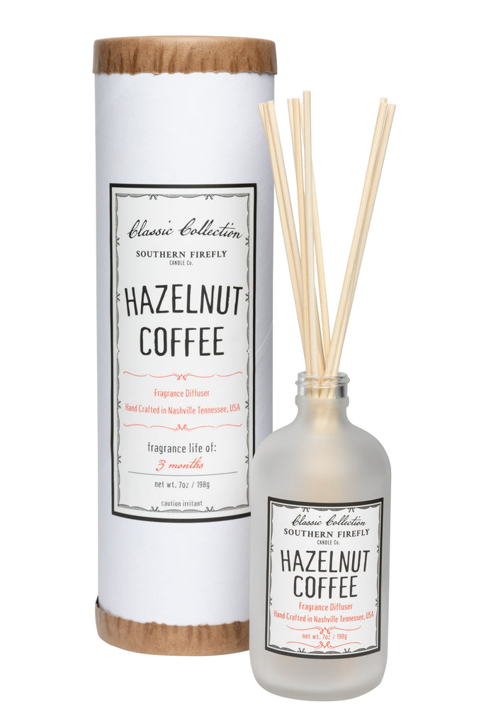 Hazelnut Coffee 8oz Reed Diffuser