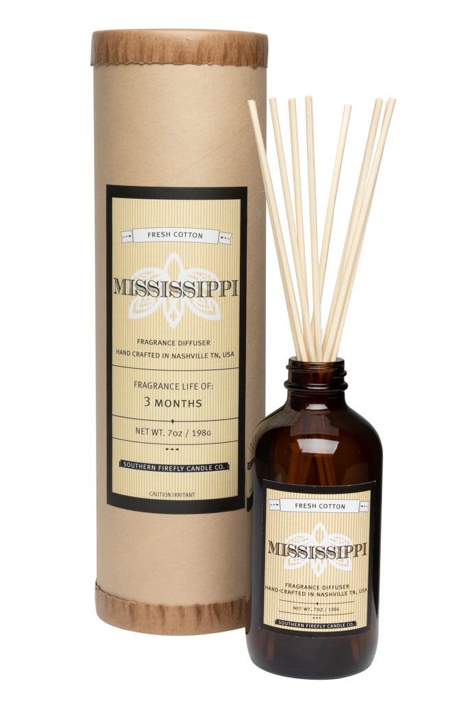 Mississippi - Fresh Cotton 8oz Reed Diffuser