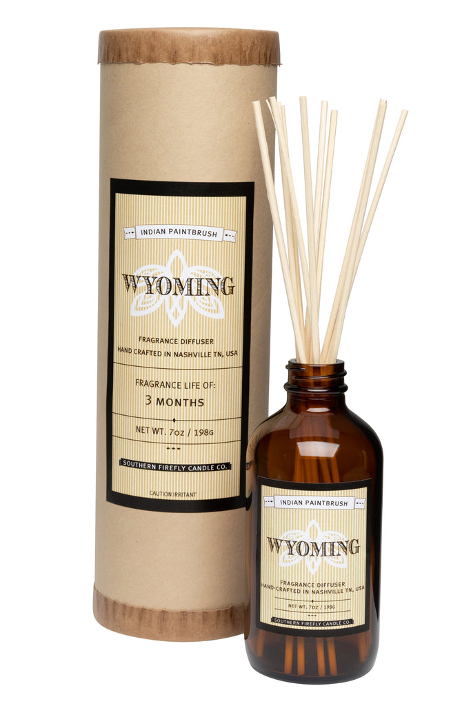 Wyoming - Indian Paintbrush 8oz Reed Diffuser