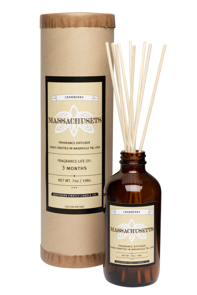 Massachusetts - Cranberry 8oz Reed Diffuser