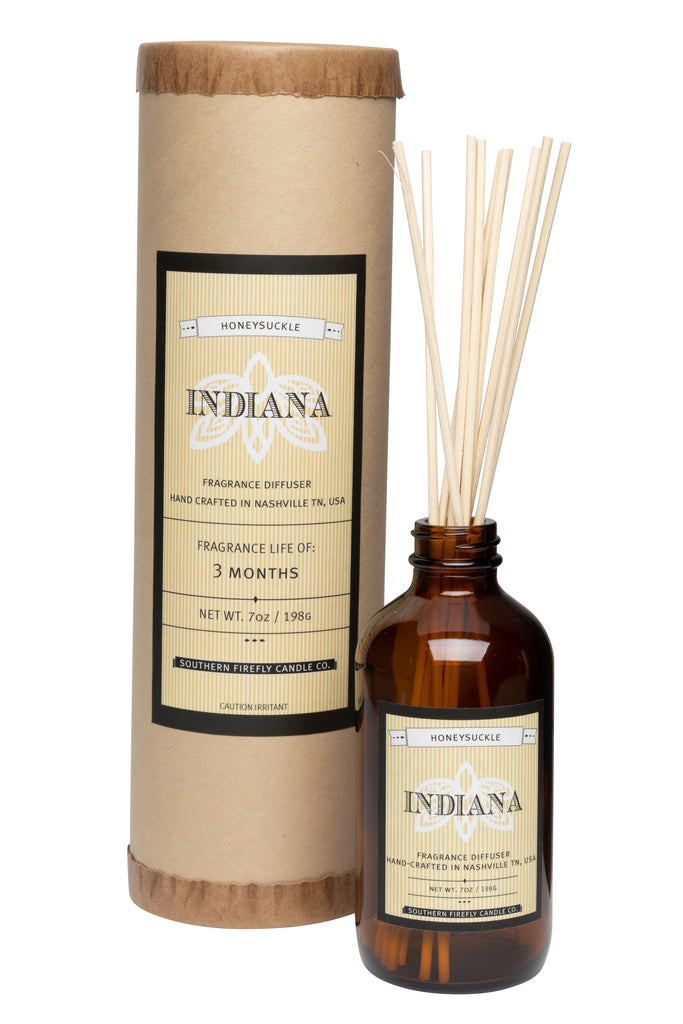 Indiana - Honeysuckle 8oz Reed Diffuser
