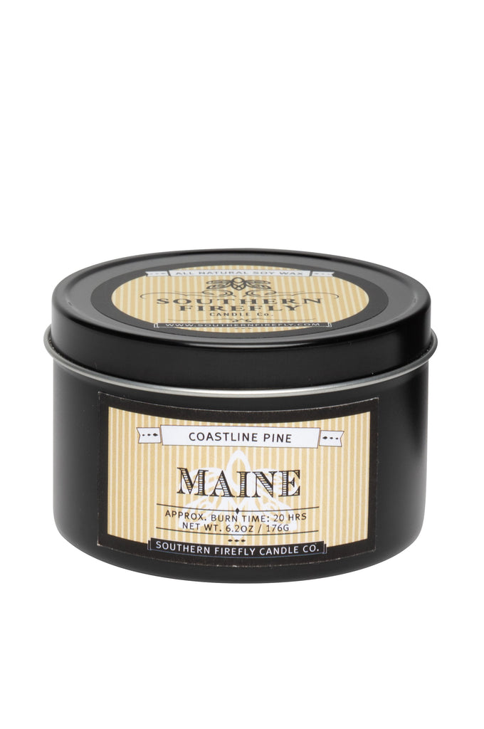 Maine - Coastline Pine 8oz Travel Tin