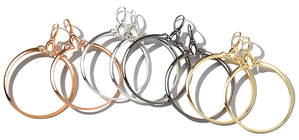 Domain Portraite Hoop Earring