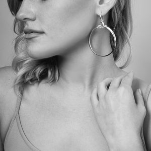 Domain Luxe Portrait Hoop Earring