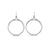 Domain Signature Pavé Portrait Hoop Earring