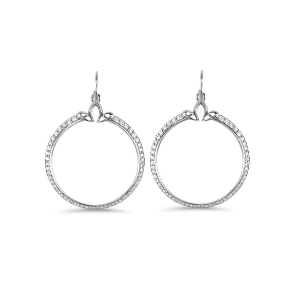 Domain Pavé Portrait Hoop Earring