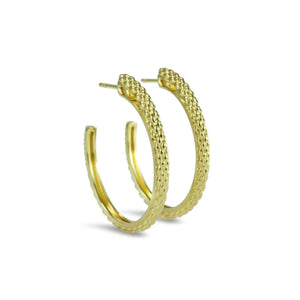 Sceptre Python Signature Hoop in 18K Gold over Sterling Silver