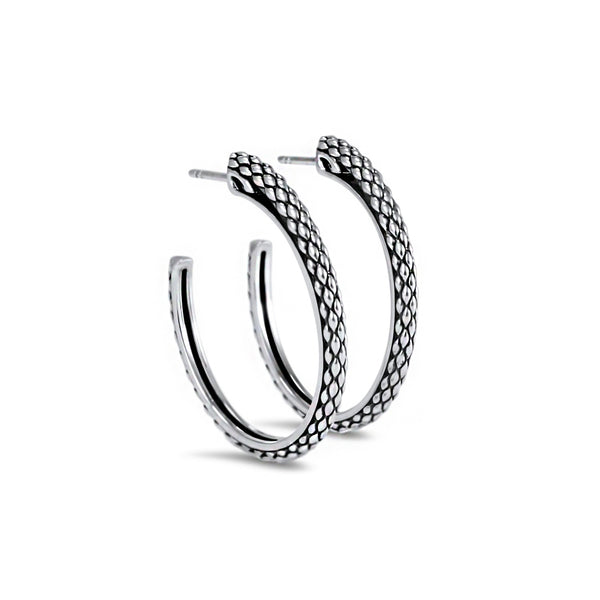 Sceptre Python Signature Hoop in Sterling Silver