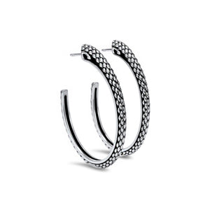 Sceptre Python Luxe Hoop in Sterling Silver