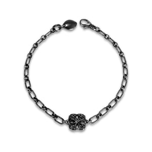Insignia Délicat Chain Bracelet in Black Ruthenium over Sterling Silver