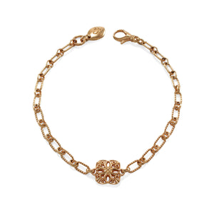 Insignia Délicat Chain Bracelet in 18K Rose Gold over Sterling Silver