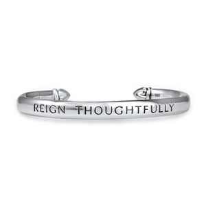 Reign Thoughtfully Cuff in Sterling Silver