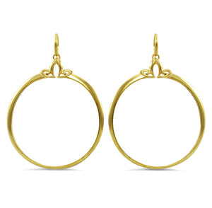 Domain Luxe Portrait Hoop Earring in 18K Gold over solid Sterling Silver
