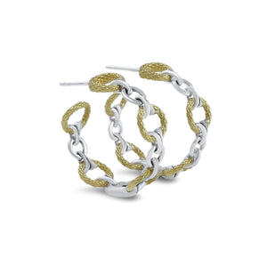Tryst Tuileries Hoop Earring in Two Tone 18K Gold over Sterling Silver