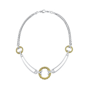 Tryst Rendezvous Jardin Necklace__Two Tone Sterling Silver with 18K Gold Vermeil