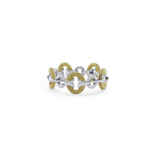 Tuileries Two Tone Gate Stack Ring in 18K Gold over Sterling Silver