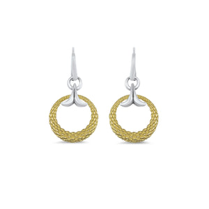 Capulet Signature Drop Earring in Two Tone 18K Gold over Sterling Silver