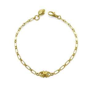 Coronet Bullet Chain Bracelet in 18K Gold over Sterling Silver