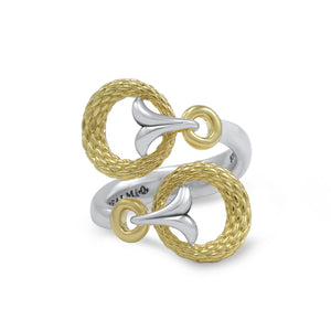 Tryst Rendezvous Wrap Ring in two Tone 18K Gold over Sterling Silver