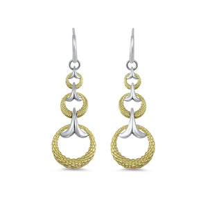 Tryst Rendezvous Swing Earring in Two Tone 18K Gold over Sterling Silver