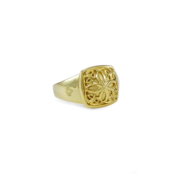 Insignia Petite Ring in 18K Gold over Sterling Silver