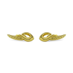 Empire Contour Earring in 18K Gold over Sterling Silver