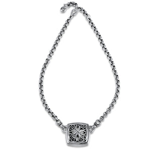 Insignia Luxe Medallion Necklace in Sterling Silver