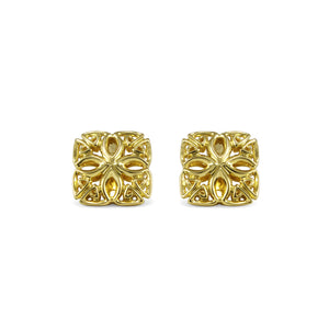 Insignia Délicat Stud Earring in 18K Gold over Sterling Silver