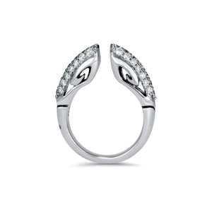 Sceptre Pavé Ring 5.0 in Sterling Silver & CZ Blanc