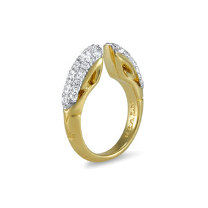 Sceptre Pavé Ring 5.0 18K Gold over Sterling Silver & CZ Blanc