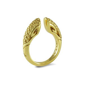 Sceptre Python Ring 5.0 in 18K Gold over Sterling Silver