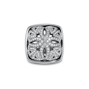 Insignia Délicat Pavé Luxe Ring in Sterling Silver & CZ Blanc