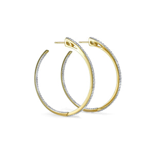Sceptre Signature Pavé Hoop Earring in 18K Gold over Sterling Silver & CZ Blanc